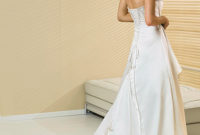 a-line wedding gown with long train