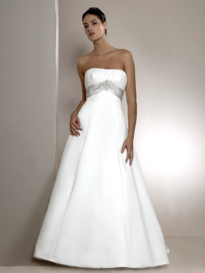 a-line white wedding gown with strap