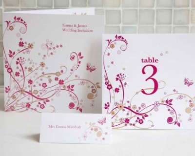contemporary wedding invitation cards