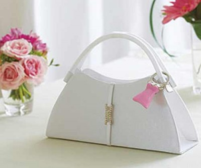 elegant white bridal purses