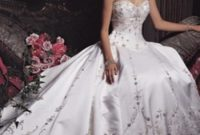 princess wedding gowns with embroidery