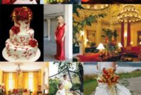 red and yellow wedding themes