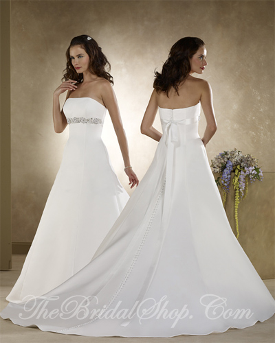 strapless a-line wedding gowns with sash