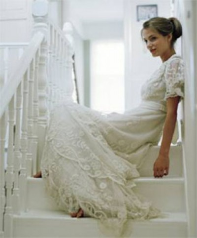 vintage winter wedding dress