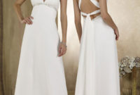 white empire waist wedding gowns