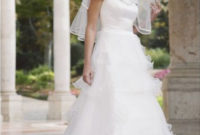 a-line white wedding dresses with sleeves