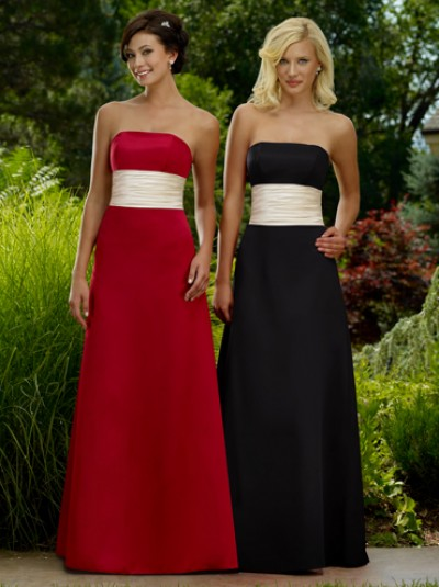 black and red bridesmaid dresses