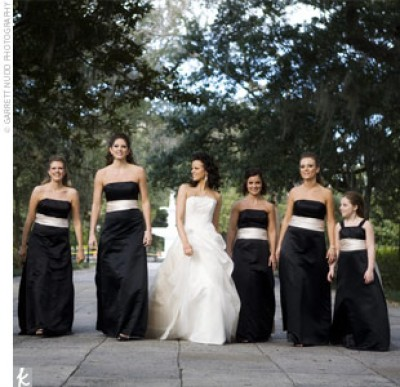 Yellow Black And White Bridesmaid Dresses 52