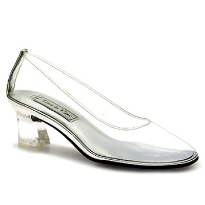 elegant cinderella glassy wedding shoes