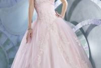 pink ball gown princess wedding dress