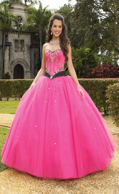 pink princess wedding dresses