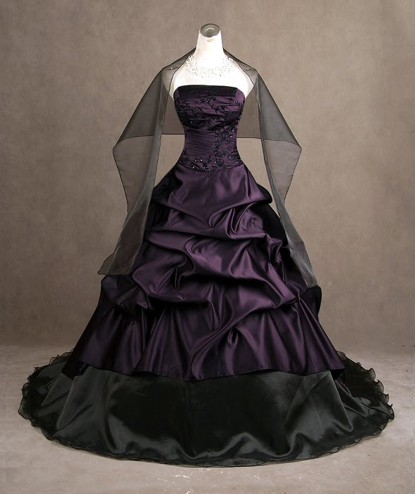 Purple Gothic Wedding DressesCherry Marry