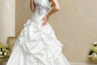 white strapless a-line wedding dresses