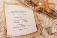 beach theme wedding invitations