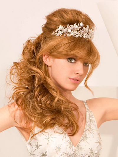 hair wedding styles half up ideas on half up and half wedding hairstyles 1088