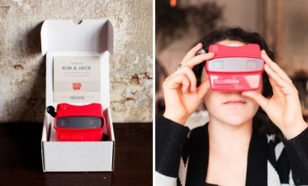 unique viewmaster wedding invitation idea
