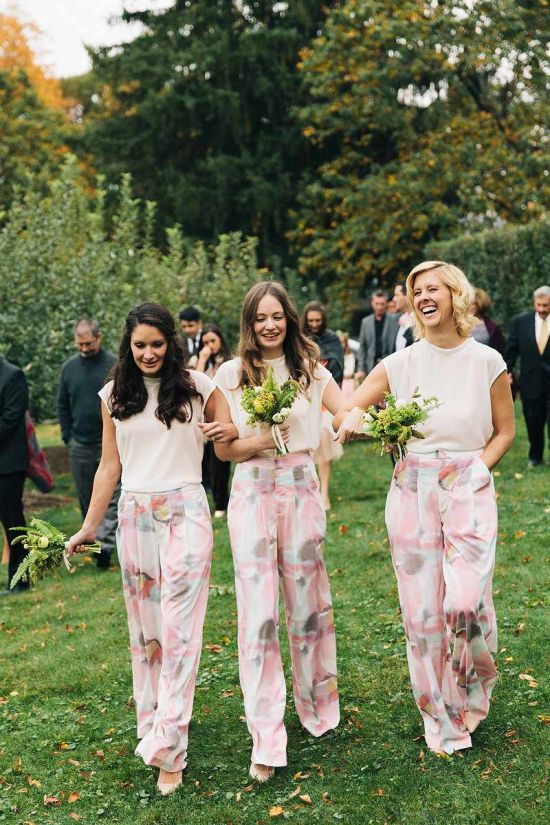 Spring Wedding Theme Idea With Floral Jumpsuits
