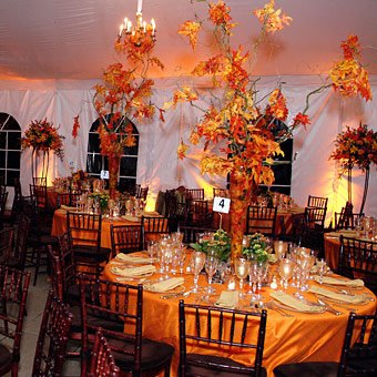 Fall Wedding Tables