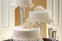 floral frost wedding cake