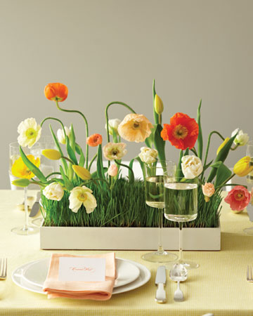 unique spring wedding centerpieces