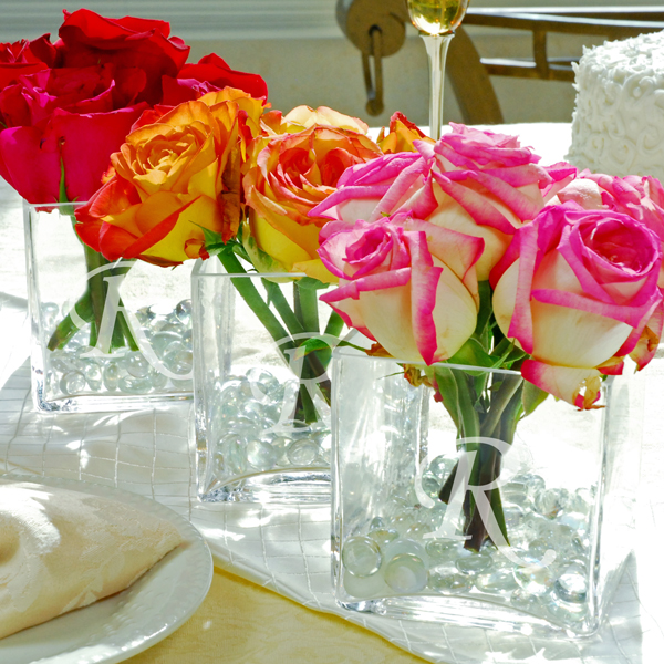 unique summer wedding flower centerpieces