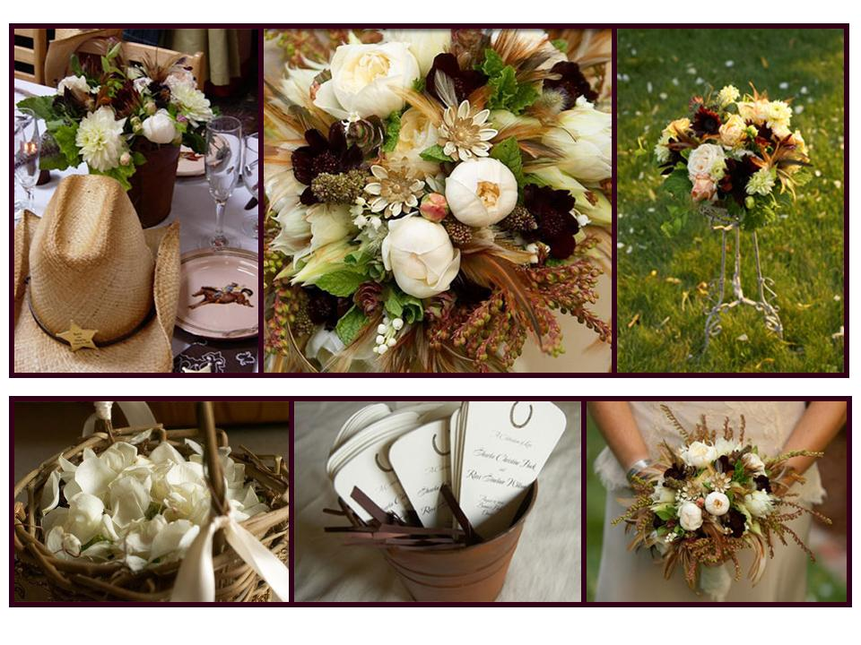 western wedding flowers