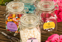 glass apothecary jar favors