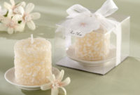 homemade candle wedding favors