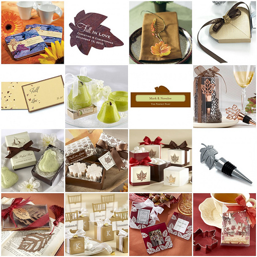 ideas for fall wedding favors