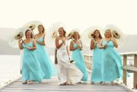 blue beach bridesmaid dresses