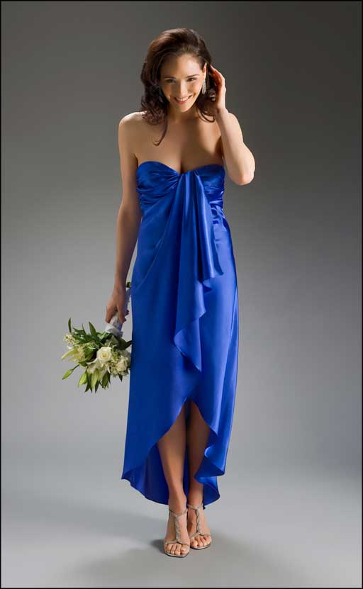 dark blue beach bridesmaid dresses