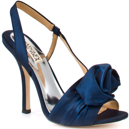 dark blue bridesmaid shoes