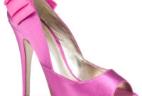 high heel pink bridesmaid shoes