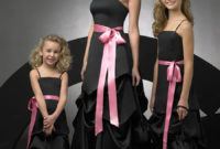 a junior bridesmaid with black dress