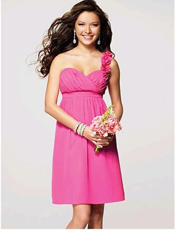 pink beach bridesmaid dress