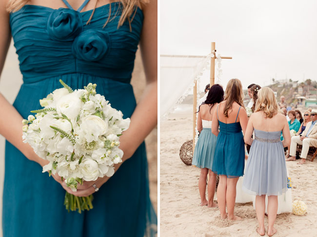 short beach blue bridesmaid dresses