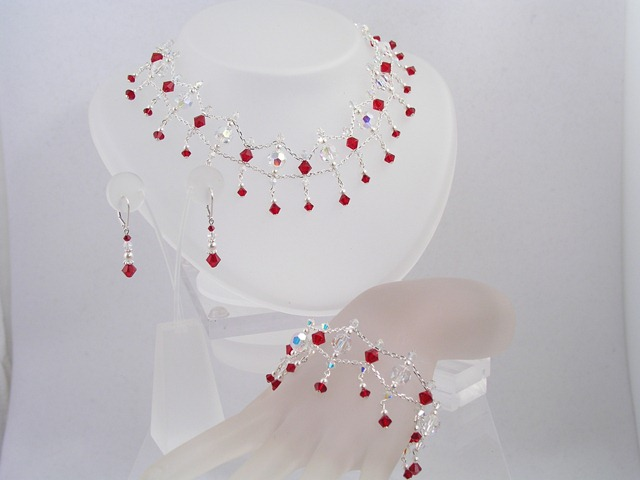 swarovski crystal bridal jewelry