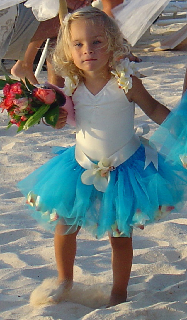beach flower girl dresses