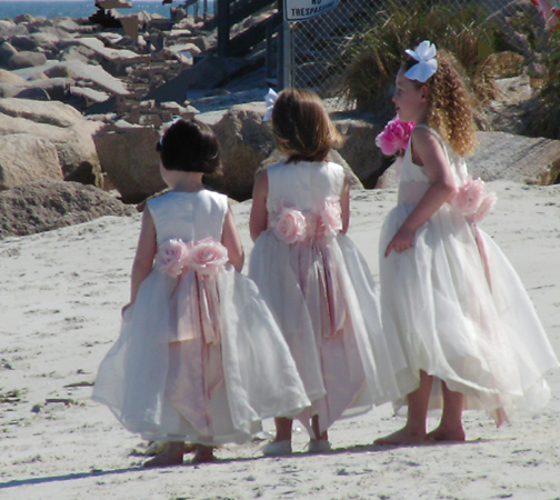 casual beach flower girl dresses