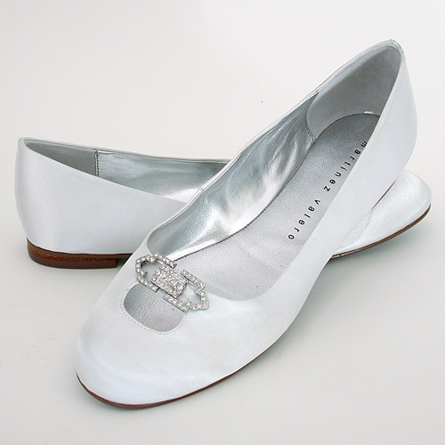 flat white wedding shoes