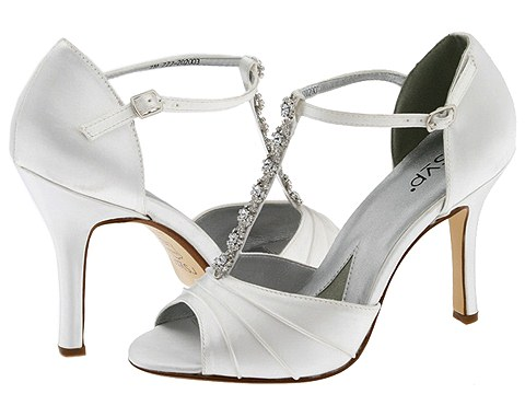 white wedding shoes with high heels