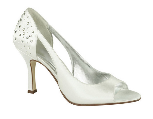 cheap ivory bridal shoes with medium heels