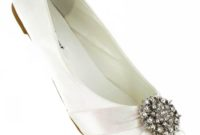 flat ivory shoes for wedding