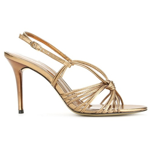 gold strappy wedding sandals
