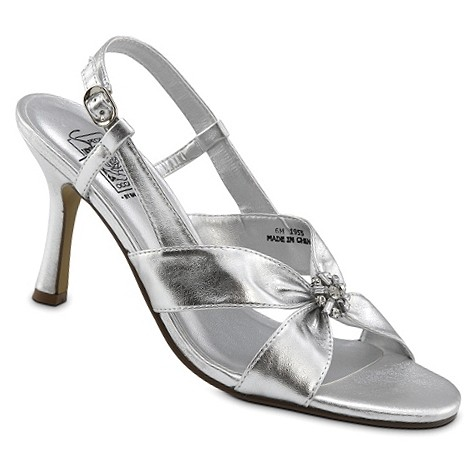 silver metallic wedding shoes