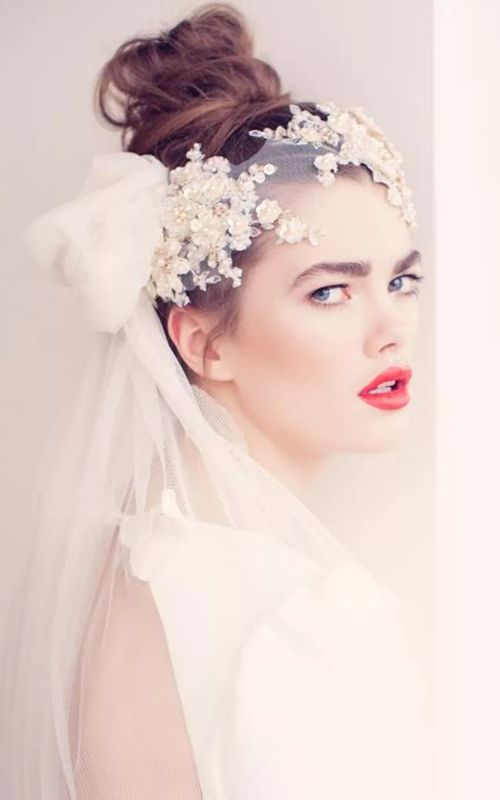 Sideswept Wedding Veil