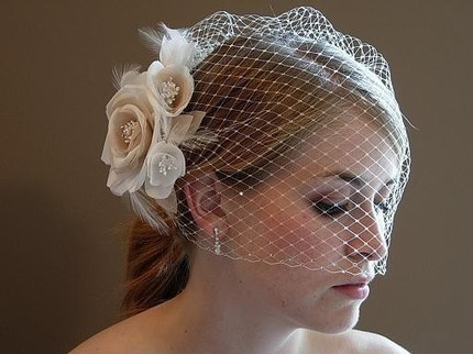 birdcage veil for wedding