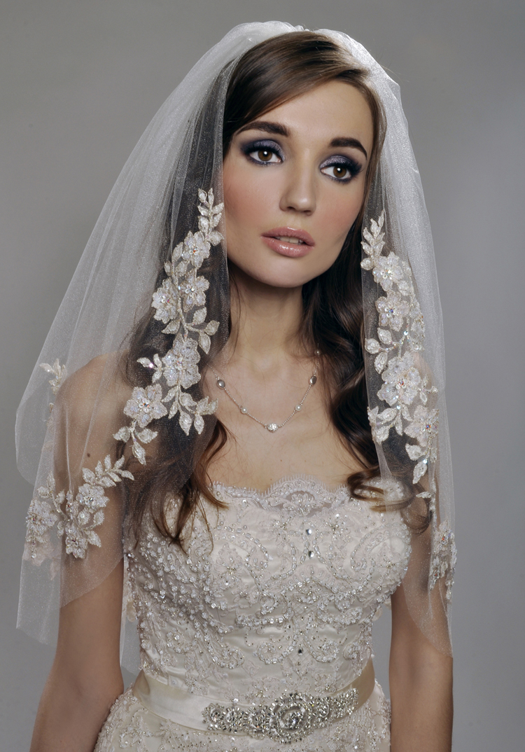 short two tier wedding veil