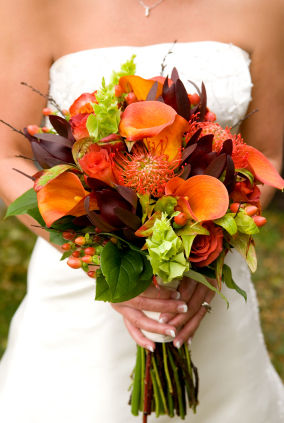 fall wedding flowers arrangement