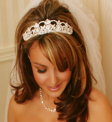 simple wedding tiaras